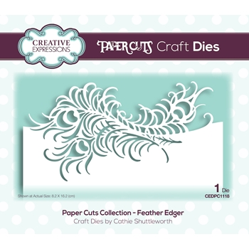 Creative Expressions FEATHER EDGER Paper Cuts Collection Dies cedpc1118