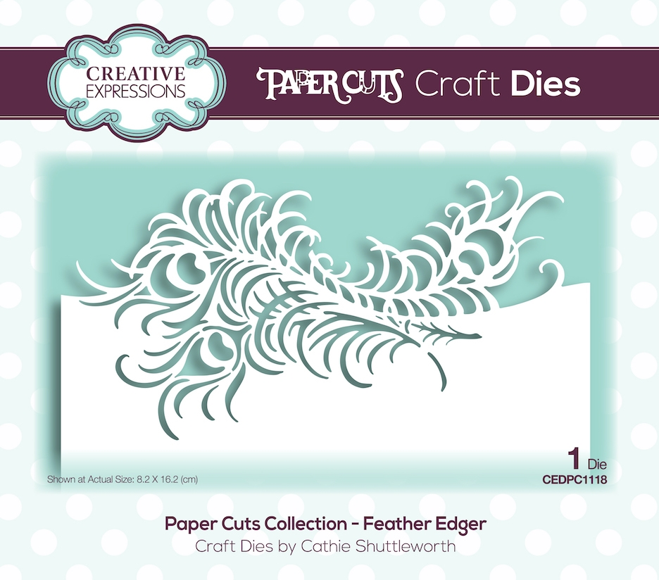 Creative Expressions FEATHER EDGER Paper Cuts Collection Dies cedpc1118 zoom image