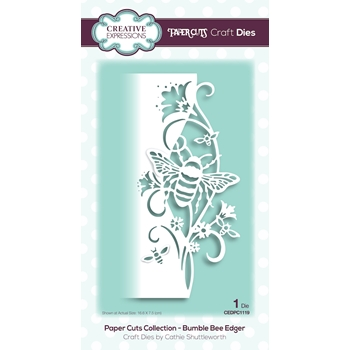 Creative Expressions BUMBLE BEE EDGER Paper Cuts Collection Dies cedpc1119