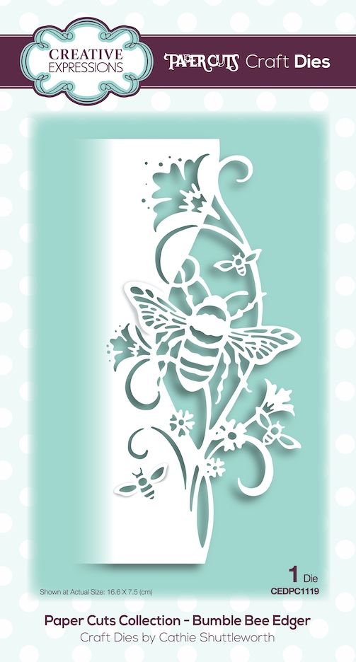 Creative Expressions BUMBLE BEE EDGER Paper Cuts Collection Dies cedpc1119 zoom image
