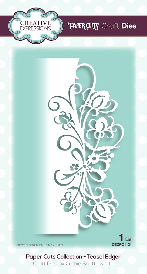 Creative Expressions TEASEL EDGER Paper Cuts Collection Dies cedpc1121 zoom image