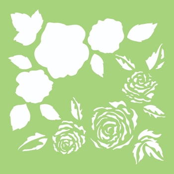 Kaisercraft FULL ROSES 6x6 Inch Stencil it503