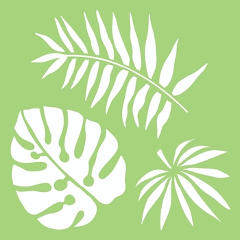 Kaisercraft TROPICAL LEAVES 6x6 Inch Stencil it502