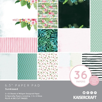 Kaisercraft SUNKISSED 6.5 Inch Paper Pad pp1085
