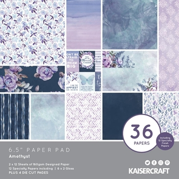 Kaisercraft AMETHYST 6.5 Inch Paper Pad pp1086