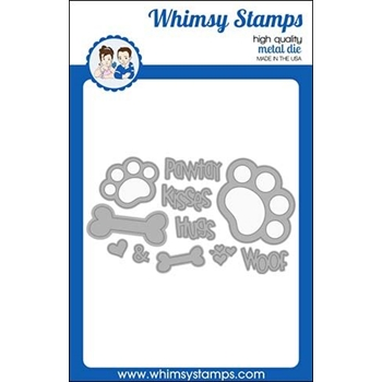 Whimsy Stamps PUPPY PAWS Dies WSD454