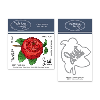 Technique Tuesday CAMELLIA FLOWER Clear Stamps and Dies 8391