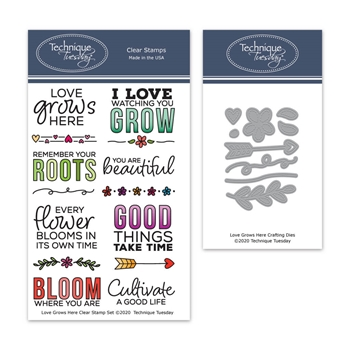Technique Tuesday LOVE GROWS HERE Clear Stamps and Dies 8377