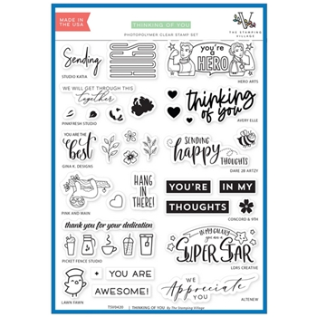 THINKING OF YOU Clear Stamps By The Stamping Village TSV0420