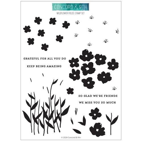 Concord & 9th WILDFLOWER FIELDS Clear Stamp Set 10934 Preview Image
