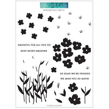 Concord & 9th WILDFLOWER FIELDS Clear Stamp Set 10934