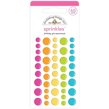 Doodlebug BIRTHDAY GIRL Matte Assortment Enamel Sprinkles Dots Hey Cupcake 6620