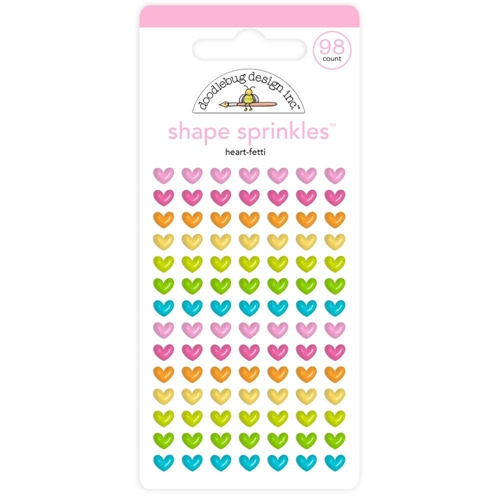 Doodlebug HEART-FETTI Shape Sprinkles Enamel Shapes Hey Cupcake 6621 Preview Image