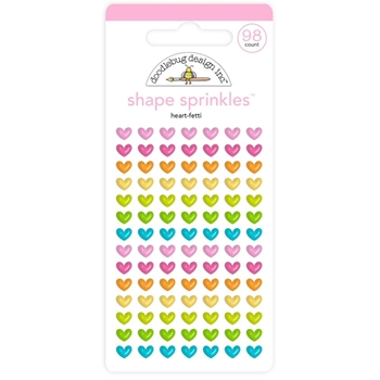 Doodlebug HEART-FETTI Shape Sprinkles Enamel Shapes Hey Cupcake 6621