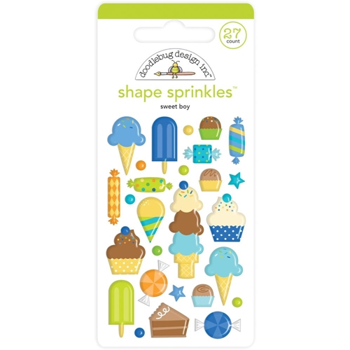 Doodlebug SWEET BOY Shape Sprinkles Party Time 6627 Preview Image