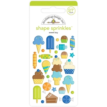 Doodlebug SWEET BOY Shape Sprinkles Party Time 6627