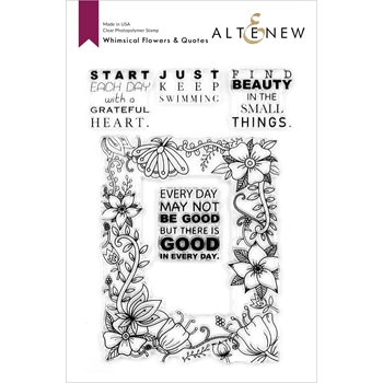 Altenew WHIMSICAL FLOWERS AND QUOTES Clear Stamps ALT4131*