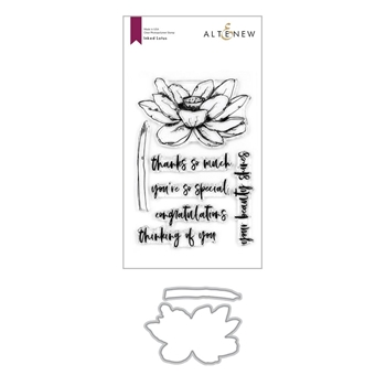 Altenew INKED LOTUS Clear Stamp and Die Bundle ALT4127