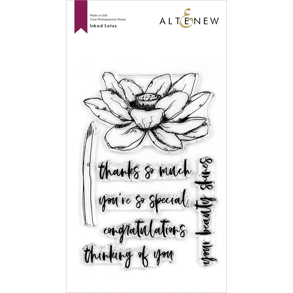 Altenew INKED LOTUS Clear Stamps ALT4124 zoom image