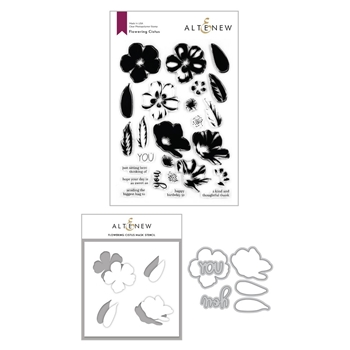 Altenew FLOWERING CISTUS Stamp, Die and Mask Stencil Bundle ALT4123
