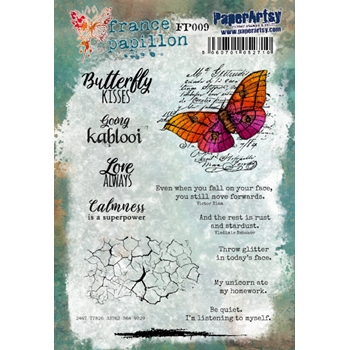 Paper Artsy FRANCE PAPILLON 9 Cling Stamps fp009