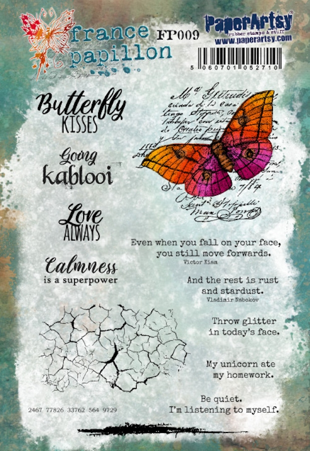 Paper Artsy FRANCE PAPILLON 9 Cling Stamps fp009 zoom image