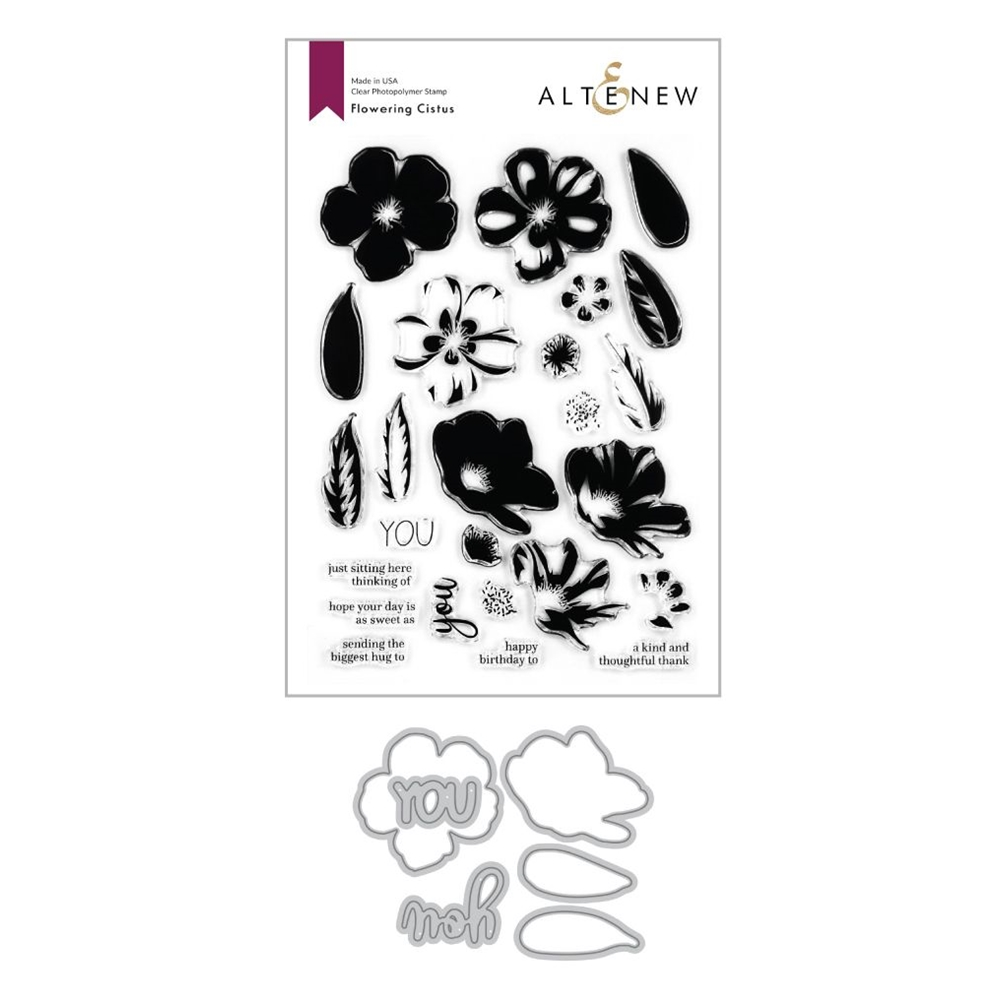 Altenew FLOWERING CISTUS Clear Stamp and Die Bundle ALT4122 zoom image