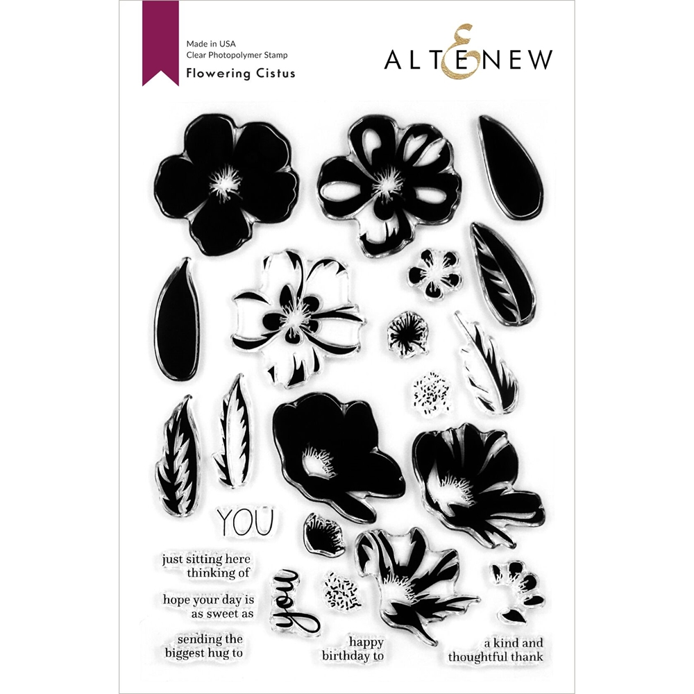 Altenew FLOWERING CISTUS Clear Stamps ALT4119 zoom image