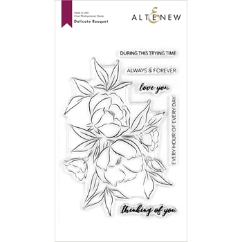 Altenew DELICATE BOUQUET Clear Stamps ALT4118