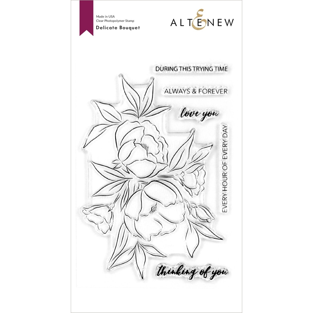 Altenew DELICATE BOUQUET Clear Stamps ALT4118 zoom image