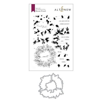 Altenew BLOSSOM WREATH Clear Stamp and Die Bundle ALT4117
