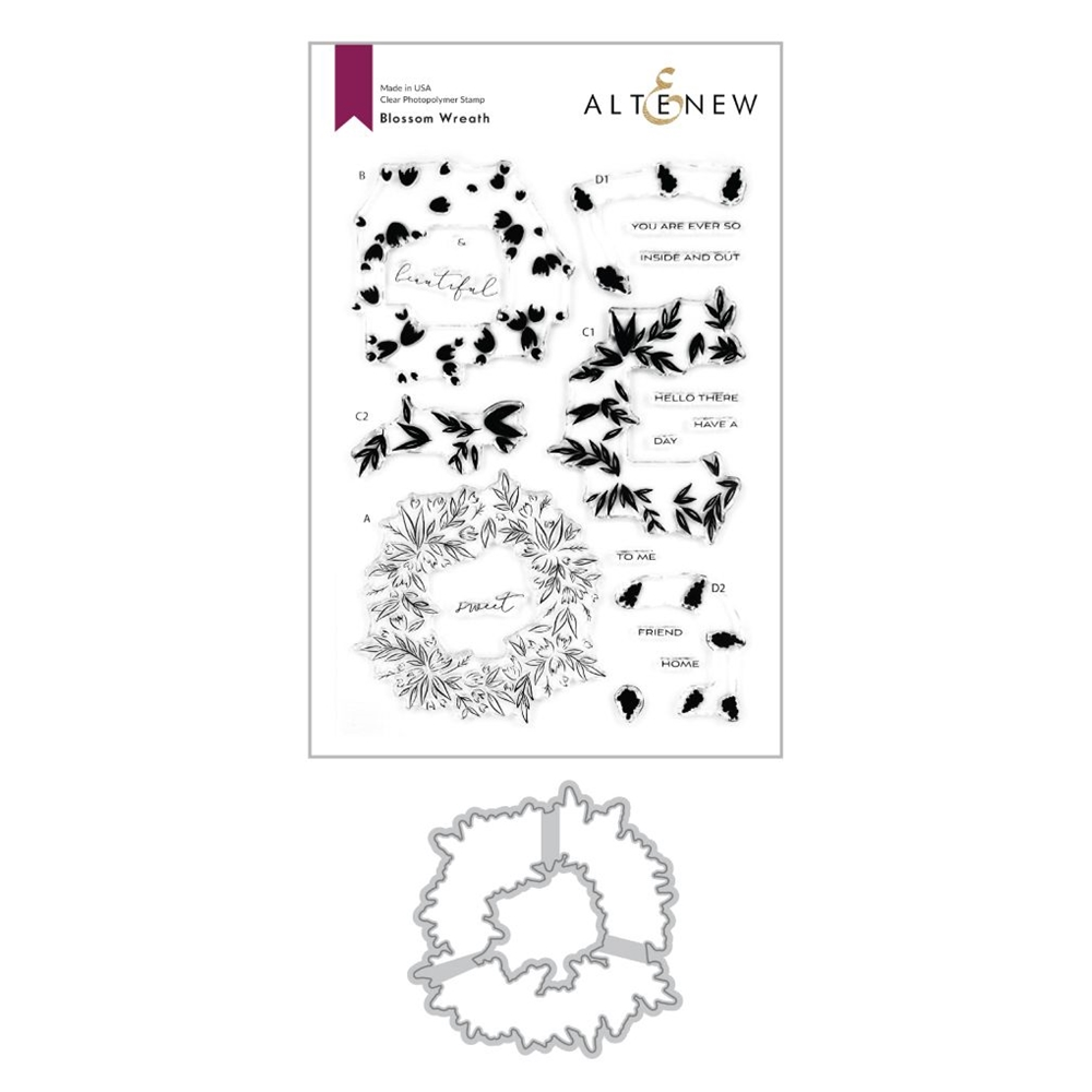 Altenew BLOSSOM WREATH Clear Stamp and Die Bundle ALT4117 zoom image
