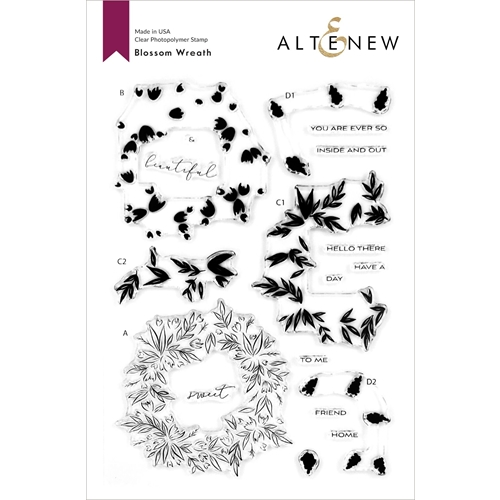 Altenew BLOSSOM WREATH Clear Stamps ALT4115 Preview Image