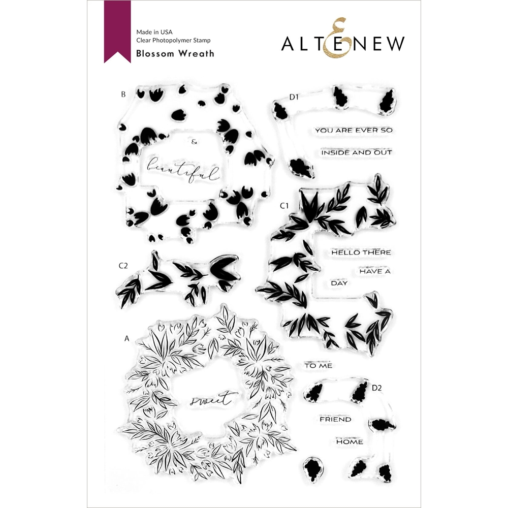 Altenew BLOSSOM WREATH Clear Stamps ALT4115 zoom image