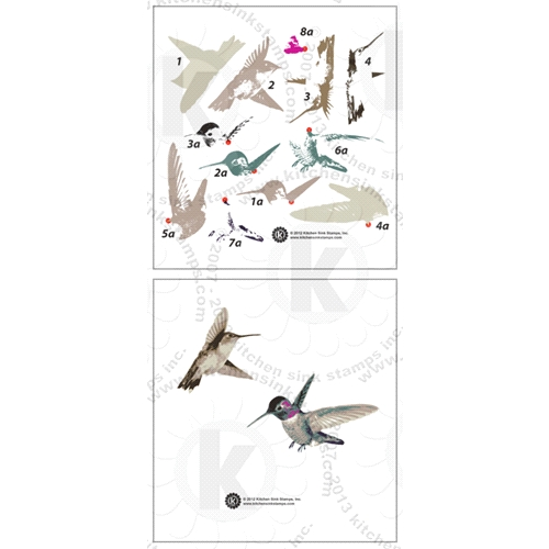 Kitchen Sink Stamps HUMMINGBIRDS kss047 Preview Image