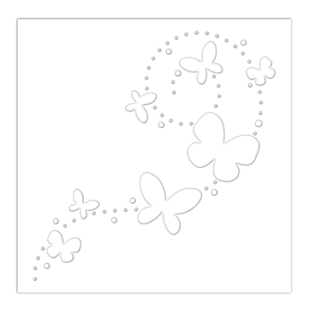 Simon Says Stamp Stencil BUTTERFLY TRAILS ssst121486
