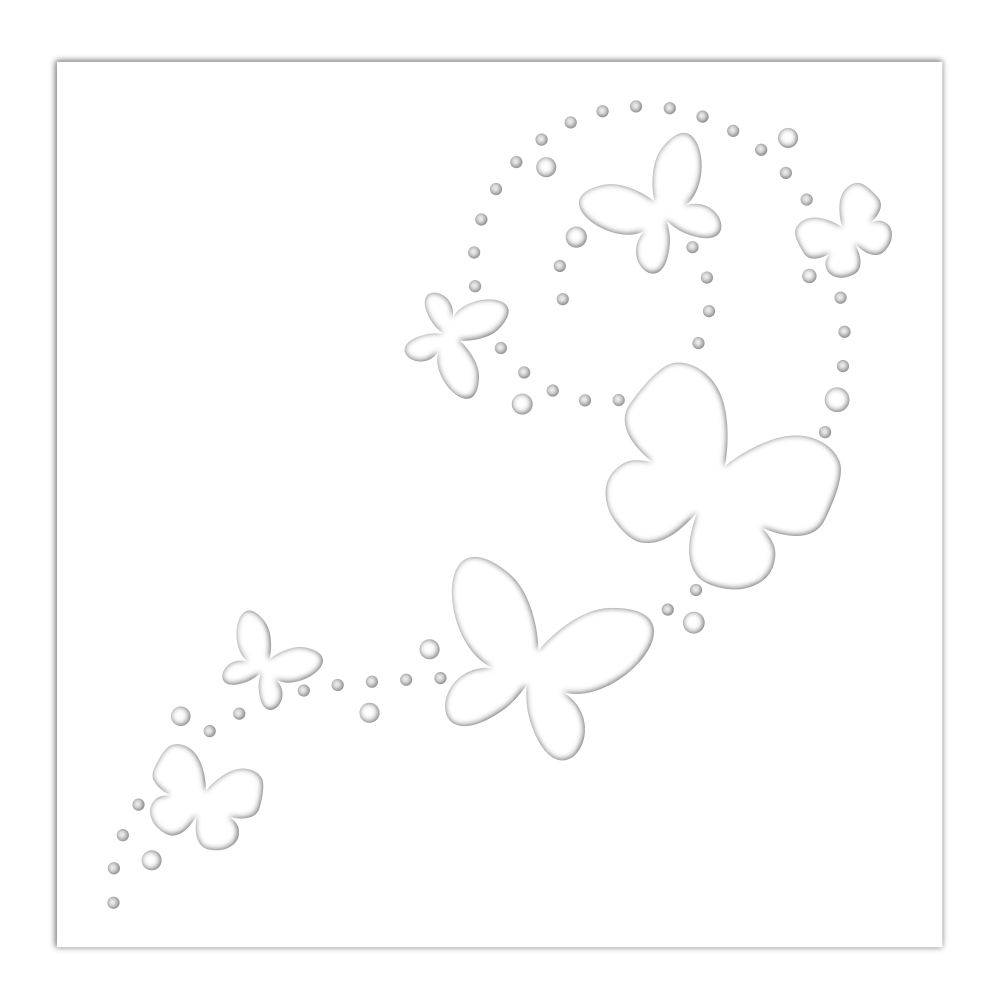 Simon Says Stamp Stencil BUTTERFLY TRAILS ssst121486 zoom image