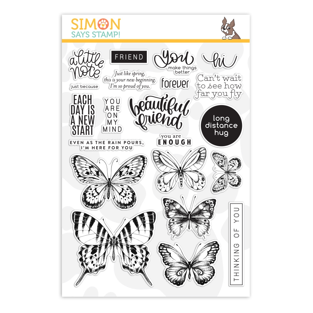 Simon Says Clear Stamps BEAUTIFUL BUTTERFLIES sss202086 zoom image