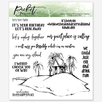 Picket Fence Studios YOU OR WIFI Clear Stamps bb136