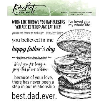 Picket Fence Studios DAD'S DAY Clear Stamps bb142