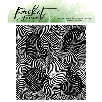 Picket Fence Studios EXOTIC LEAVES Clear Stamp f134