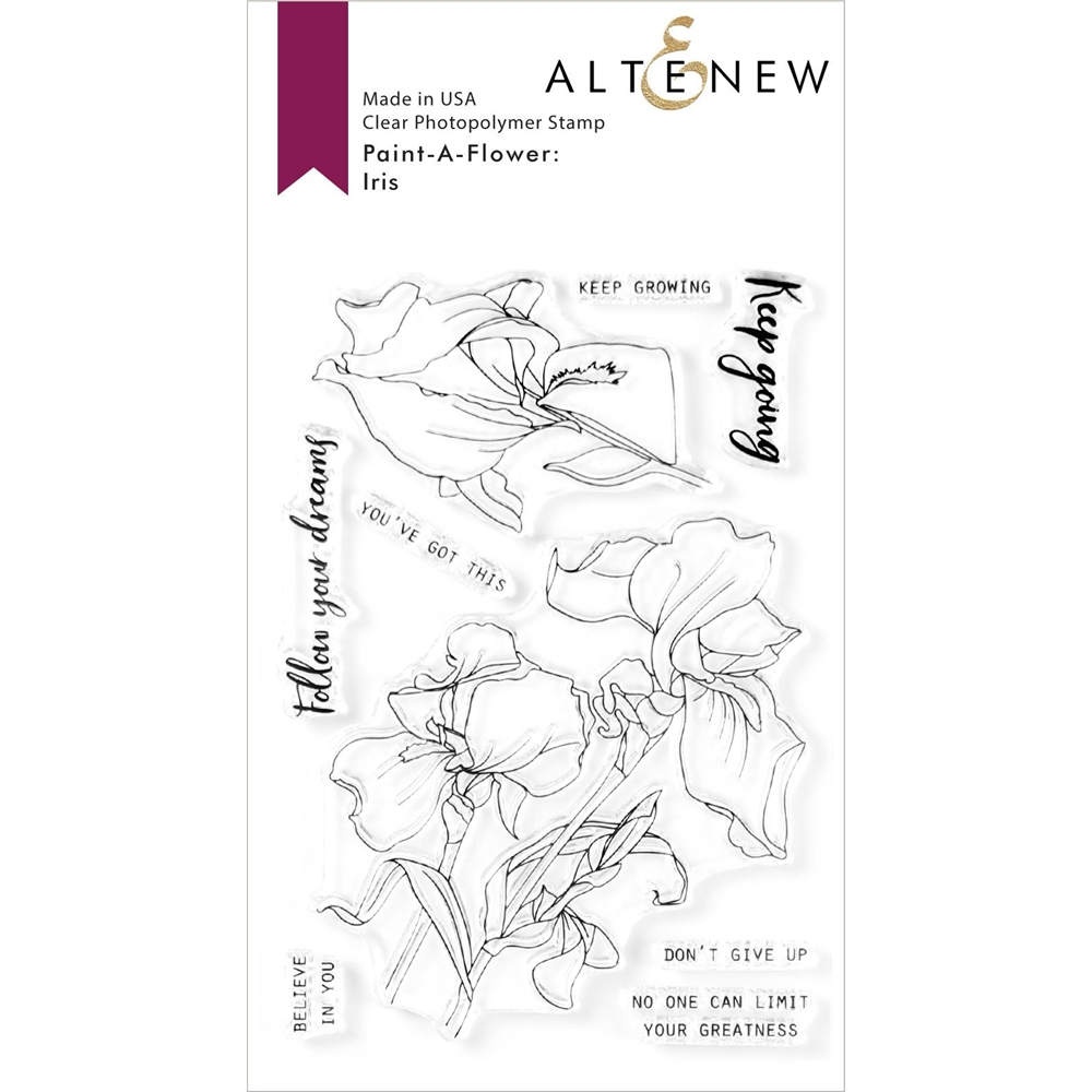 Altenew PAINT A FLOWER IRIS Clear Stamps ALT3974 zoom image