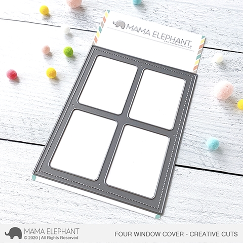 Mama Elephant FOUR WINDOW COVER Creative Cuts Steel Dies  zoom image
