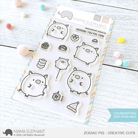 Mama Elephant Clear Stamps ZODIAC PIG zoom image
