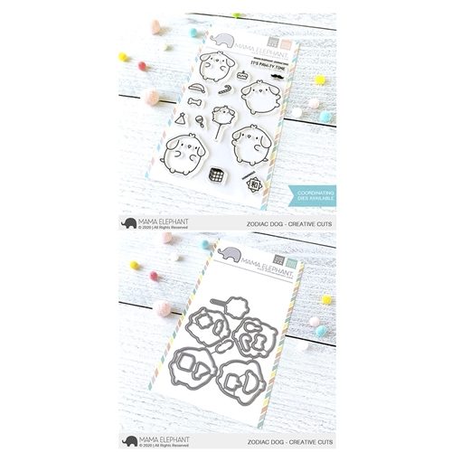 Mama Elephant Clear Stamp and Die MEPT787 Zodiac Dog SET Preview Image