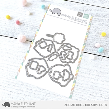 Mama Elephant ZODIAC DOG Creative Cuts Steel Dies