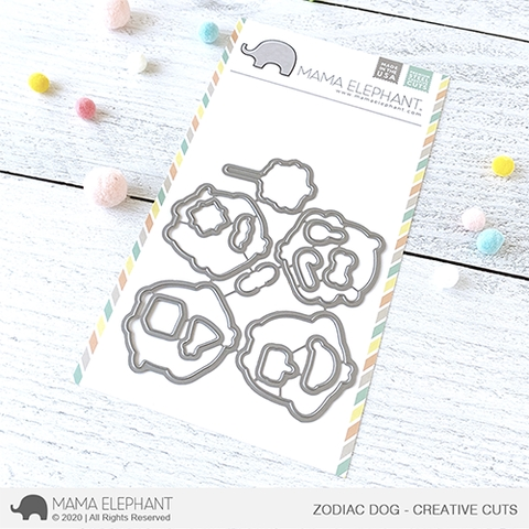 Mama Elephant ZODIAC DOG Creative Cuts Steel Dies zoom image