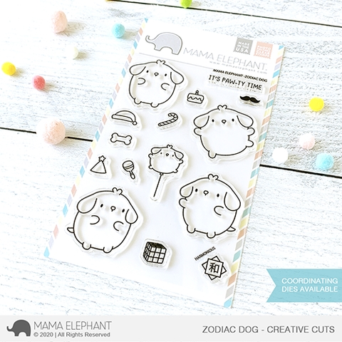 Mama Elephant Clear Stamps ZODIAC DOG  Preview Image