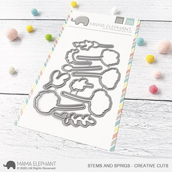 Mama Elephant STEMS AND SPRIGS Creative Cuts Steel Dies
