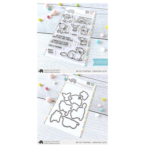 Mama Elephant Clear Stamp and Die MEPT793 My Pet Puppies SET Preview Image